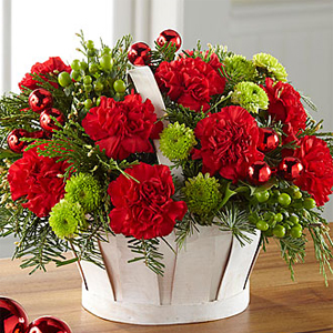 The FTD® Winter Wishes™ Basket Arrangement