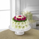 The FTD® Wonderful Wishes™ Floral Cake Birthday