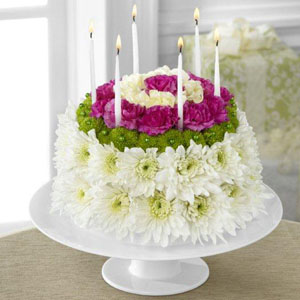 Wonderful Wishes Floral Cake Arrangement