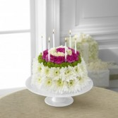 Birthday Wishes Floral Cake