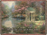 The Garden of Prayer Thomas Kinkade Woven Throw