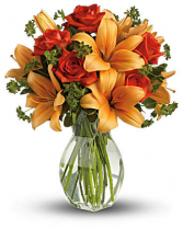 The Golden Lily Vase Arrangement