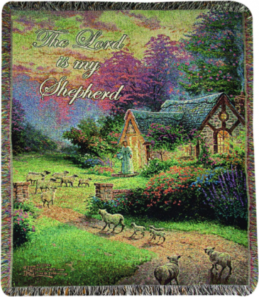 "The Good Shepherd's Cottage Manual 50x60"" Tapestry Throw"