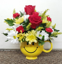 The Happiness Mug Fresh Keepsake Arrangement