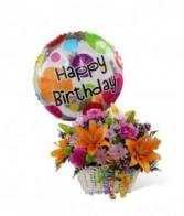 The Happy Blooms™ Basket Birthday