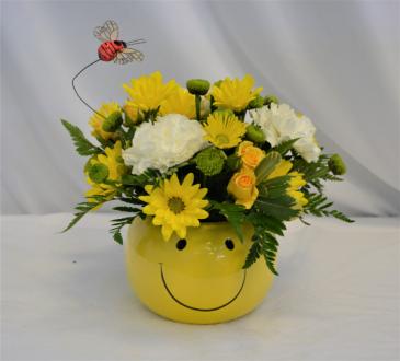 THE HAPPY BUZZ FRESH FLOWER ARRANGEMENT