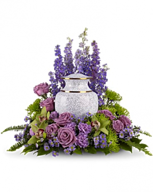 The Kelsey  Memorial Urn Arrangement in Osceola Mills, PA | COLONIAL FLOWER & GIFT SHOP