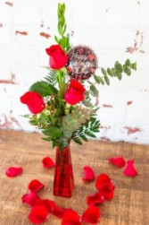 The Lani Valentine Rose Budvase