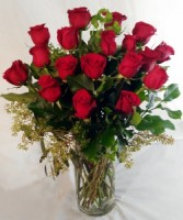 THE LONG STEM RED ROSE ARRANGMENT Red