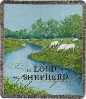 The Lord is My Shepherd Woven Afghan