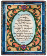 The Lord's Prayer Woven Afghan
