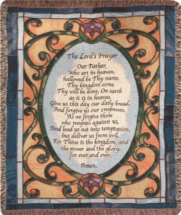 The Lord's Prayer Woven Throw