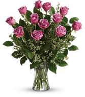 The Lovely Lavender Rose Bouquet PFD21FV4 Lavender. Available in Standard, Deluxe, Premium