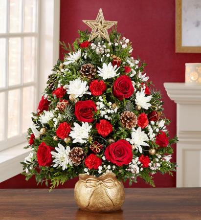 The Magic of Christmas™ Holiday Flower Tree Christmas Arrangement