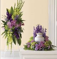 THE MEMORIAL 2 PC PACKAGE STANDING SPRAY AND URN PC