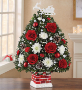 The Night Before Christmas Holiday Flower Tree Christmas