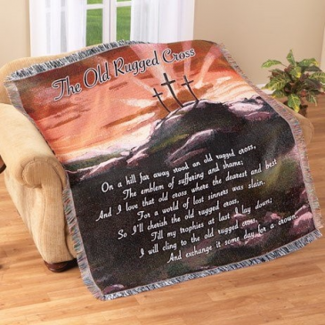 The old rugged cross  throw blanket