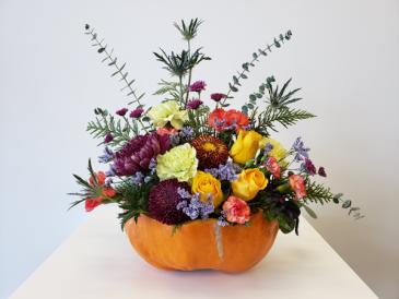 The Orange Cauldron Floral Arrangement