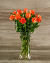 The Orange Rose Bouquet ROSES