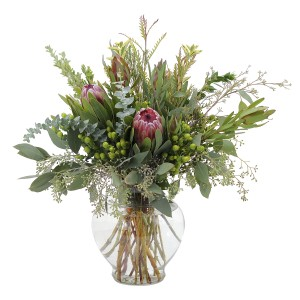 The Organics Centerpiece in Burnt Hills, NY | THE COUNTRY FLORIST