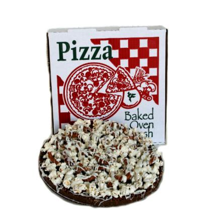 The Original Chocolate Popcorn Pizza. Gourmet Dessert