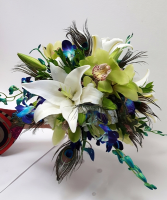 The Peacock  Bridal bouquet