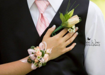 The perfect pair Corsage and Boutonniere