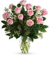 The Perfect Pink Rose Bouquet PFD21V4 Pink.   Available in Standard, Deluxe, Premium