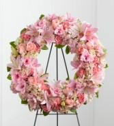 THE PINK SYMPATHY WREATH **color can be changed as per request**
