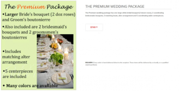 The Premium Weeding Package Wedding