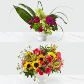 The Pure Beauty Bouquet (top) The Fresh Beginnings Bouquet (bottom)
