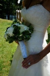 The Purity of White Roses wedding bouquet