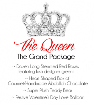 The Queen Valentine's Day in Clinton, OK | Prairie Sunshine Flowers & Balloons