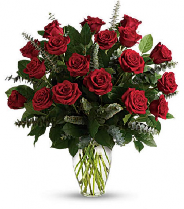 The Radiant Red 18 Rose Bouquet  Rose Arrangement