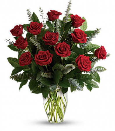 The Radiant Red Rose 12 Bouquet Rose Arrangement