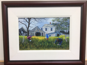 The Raspberry Pickers  Ed Roche Framed Print