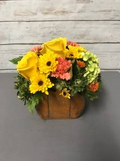 The Rustic Pumpkin Arrangement in Weymouth, MA | DIERSCH FLOWERS