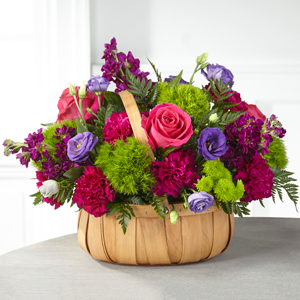 The Serene Sanctuary Basket Basket Arrangement