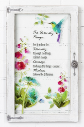 The Serenity Prayer Window Plaque Gift Item