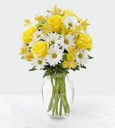 The FTD Sunny Sentiments™ Bouquet Vased Arrangement