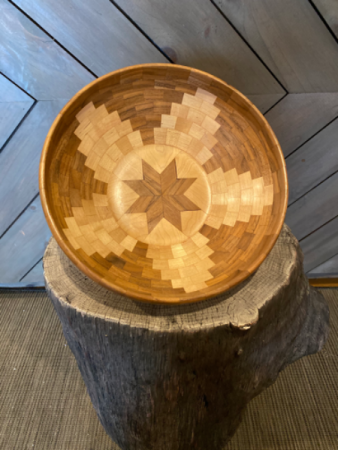 The Superstar One of a kind, Hand crafted wood bowl