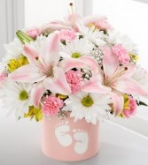 The Sweet Dreams Bouquet  BABY GIRL MIX in vase