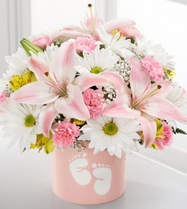 The Sweet Dreams Bouquet  new baby vase