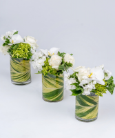 The Three Amigos  Table Centrepeices/ Bud Vases with your Choice of flowers