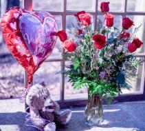 The Total Pakage Dozen roses bear and chocolates