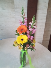 The Trio Vase of Fresh Garden Flowers