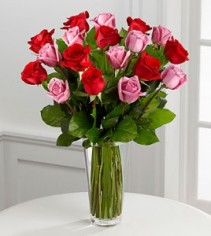The True Romance™ Rose Bouquet by VASE INCL