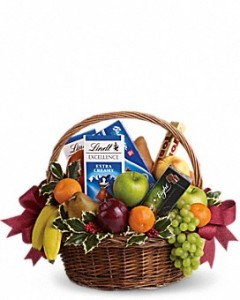 Fruits and Sweets Christmas Basket  in Clay Township, MI | ALGONAC'S WATER LILY