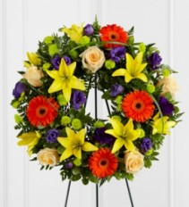 THE UNFORGETTABLE WREATH Funeral Flowers
