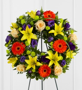 THE UNFORGETTABLE WREATH **color can be changed as per request** in Vancouver, BC | ARIA FLORIST